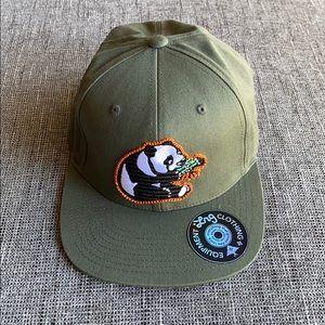 NWOT Olive Green Panda LRG hat